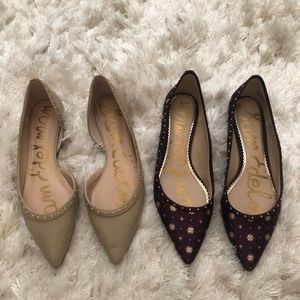 Pair of Sam Edelman Flats Size 8 both worn twice